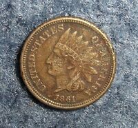 1861 INDIAN HEAD CENT SEMI KEY DATE VF DETAILS