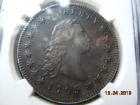1795 FLOWING HAIR DOLLAR NGC AU DETAILS COIN HAS SPECTACULAR DETAIL AND HAIR