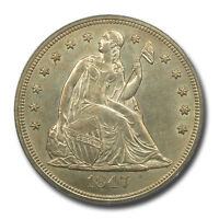 1847 $1 LIBERTY SEATED DOLLAR PCGS MS62 CAC