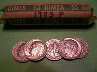 1983 P ROOSEVELT DIME ROLL   50 COINS