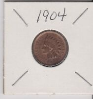 1904 INDIAN HEAD PENNY COIN ITEM 1093 30