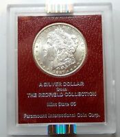 1887 S REDFIELD COLLECTION MORGAN SILVER DOLLAR - NGC GRADED MINT STATE 62