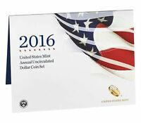 2016 US MINT ANNUAL UNCIRCULATED DOLLAR COIN SET 16RB