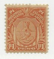 PHILIPPINES SCOTT 251 NG 1906, DOUBLE LINE