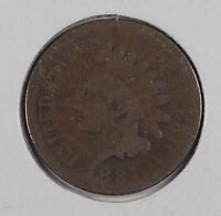 1884 1C BN INDIAN CENT GOOD CONDITION 164288