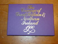 GREAT BRITAIN 1980 ROYAL MINT PROOF COIN SET 6 COINS  1/2 P TO 50 P
