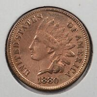 1880 1C RD INDIAN CENT ABOUT UNCIRCULATED 142912