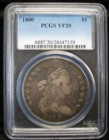 1800 $1 DRAPED BUST DOLLAR PCGS VF20