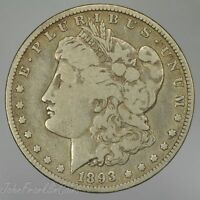 1893-O $1 MORGAN SILVER DOLLAR VG /Q-429