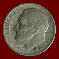 1947 S ROOSEVELT 90 SILVER DIME SHIPS FREE. BUY 5 FOR $2 OFF