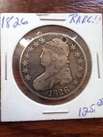 1826 CAPPED BUST HALF DOLLAR WITH PIN HOLE