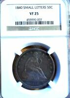 1840 50C LIBERTY SEATED HALF DOLLAR   NGC VF 25   SMALL LETTERS