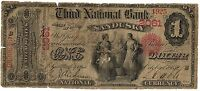 1865 $1   THIRD NATIONAL BANK SANDUSKY OH CH.2061   ONLY 10 KNOWN   BEST OFFER