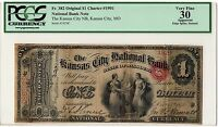 1865 $1 ORIGINAL   KANSAS CITY NATIONAL MO CH.1901   ONLY 1 KNOWN   BEST OFFER