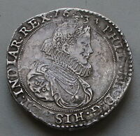 DUCATON 1633 BRABANT BELGIUM XF FILIPS SILVER COIN