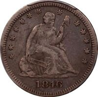 1846 SEATED QUARTER PCGS VF 30 GREAT COLLECTOR COIN