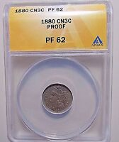 1880 THREE CENT NICKELANACS PF62ONLY 3955 MINTED