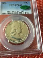 1953 FRANKLIN HALF DOLLAR PR66 PCGS CAC APPROVED