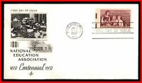 1957 US NATIONAL EDUCATION ASSOCIATION ARTCRAFT FDC FIRST DAY COVER