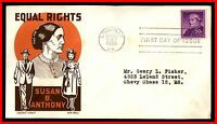 1955 US SUSAN B ANTHONY KEN BOLL FDC FIRST DAY COVER