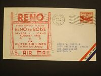RENO TO BOISE 1947 UNITED AIR LINES