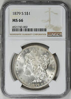 1879-S  MORGAN SILVER DOLLAR - NGC MINT STATE 66 - SAN FRANCISCO MINT GEM