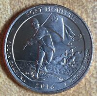 2016 P FORT MOULTRIE NATIONAL PARK QUARTER BU