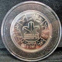CANADA 1 DOLLAR 1978   SILVER   COMMONWEALTH GAMES IN AIR TIGHT