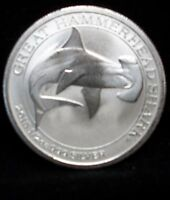 2015 1/2 OZ SILVER AUSTRALIA GREAT HAMMERHEAD SHARK WITH DIRECT FIT