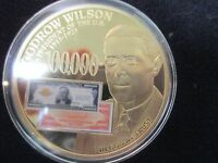 2014 UNC WOODROW WILSON AND THE FEDERAL RESERVE NOTES $100,000 GOLD CERTIFICATES