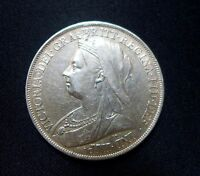 1900 LXIV CROWN BRITISH SILVER COIN FROM VICTORIA