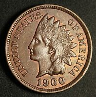 1900 INDIAN HEAD CENT   AU UNC   WITH A TOUCH OF MINT LUSTER