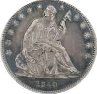 1840 SEATED HALF DOLLAR REVERSE OF 1839 PCGS XF 40 GREAT EYE APPEAL