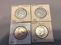FIFTEEN 15 KENNEDY HALF DOLLARS; VARIOUS YEARS FROM 1964 1977