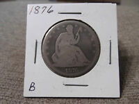 1876 SEATED HALF DOLLAR  GOOD