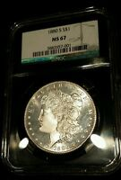 1880 S $1 MORGAN SILVER DOLLAR UNDERGRADE ULTRA SATIN PROOF LIKE