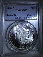 1880 S PCGS MS 65 MORGAN SILVER DOLLAR   WOW   CSTCOINS