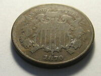 1870 TWO CENT PIECE BETTER DATE GOUGE