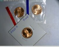 2002 PDS LINCOLN CENTS UNC IN MINT CELLO AND PROOF