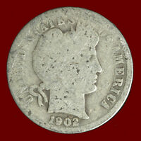 1902 P BARBER 90 SILVER DIME SHIPS FREE. BUY 5 FOR $2 OFF