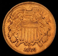 1869 SHIELD TWO CENT    BETTER DATE  T2298
