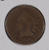 1864 1C BRONZE INDIAN CENT GOOD CONDITION 162234