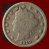 1910-P LIBERTY NICKEL SHIPS FREE. BUY 5 FOR $2 OFF