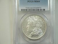 1889 O MORGAN DOLLAR  PCGS MS 64    BRIGHT WHITE    LUSTROUS   WELL STRUCK