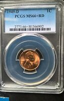 1949 D LINCOLN CENT  PCGS MS66 RED