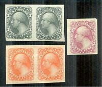 US ESSAYS 184-E5B---TWO PAIRS AND ONE SINGLE