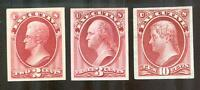 US EXECUTIVE DEPT OFFICIAL PROOFS O11P, O12P, O14P--TWO CARD & ONE INDIA