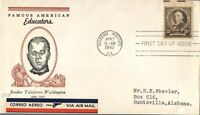 MAYFAIRSTAMPS BOOKER T WASHINGTON SCOTT 873 10C FIRST DAY COVER FDC