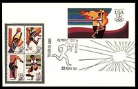 MAYFAIRSTAMPS US 1984  TOLEDO OH OLYMPIC TORCH POSTCARD COMBINATION FDC