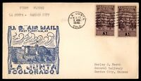 MAYFAIRSTAMPS US LA JUNTA CO NOV 15 1940 FIRST FLIGHT AM 43 CACHET ON COVER TO G